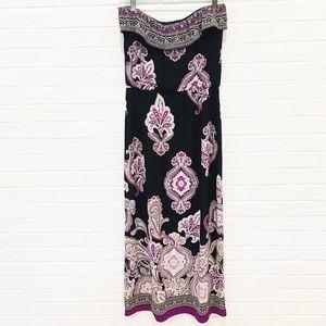 WHBM Strapless Maxi Dress